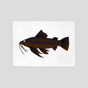 Armored Catfish fish 5'x7'Area Rug