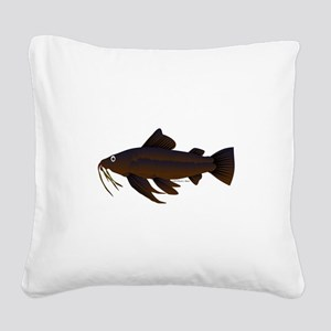 Armored Catfish fish Square Canvas Pillow