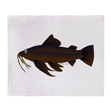 Armored Catfish fish Throw Blanket