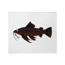 Armored Catfish fish Throw Blanket