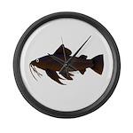 Armored Catfish fish Large Wall Clock
