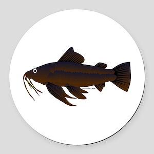 Armored Catfish fish Round Car Magnet