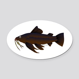 Armored Catfish fish Oval Car Magnet