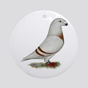 Show Racer Red Bar Pigeon Ornament (Round)