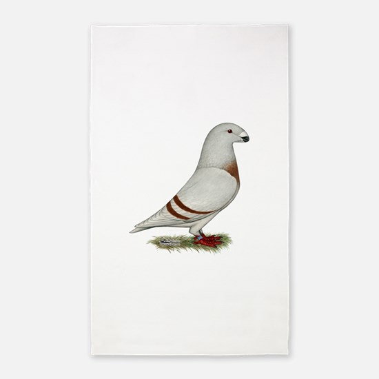 Show Racer Red Bar Pigeon 3'x5' Area Rug