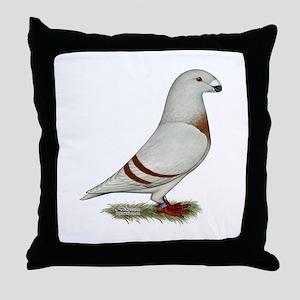 Show Racer Red Bar Pigeon Throw Pillow