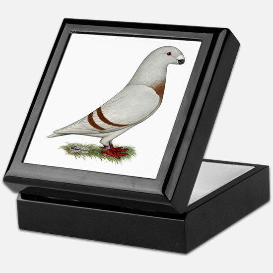 Show Racer Red Bar Pigeon Keepsake Box