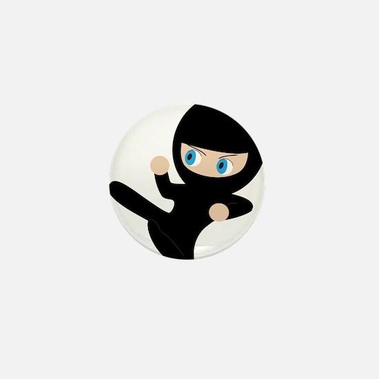 Ninja Mini Button