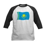 Kazakhstan Flag Kids Baseball Jersey