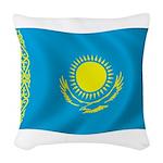 Kazakhstan Flag Woven Throw Pillow