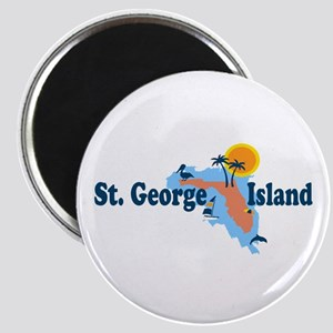 St. George Island - Map Design. Magnet