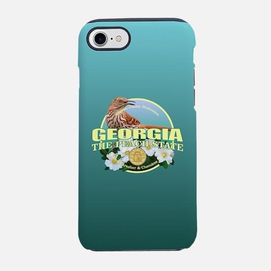 Georgia State Bird & Flower iPhone 7 Tough Case