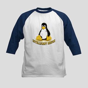Linux Penguin Intelligent Design Kids Baseball Jer