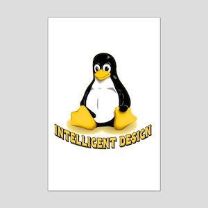 Linux Penguin Intelligent Design Mini Poster Print