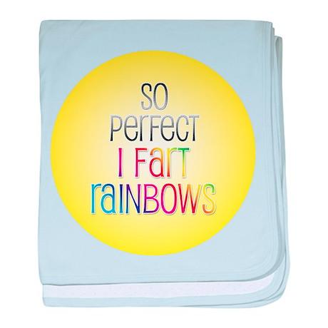 So Perfect I Fart Rainbows baby blanket