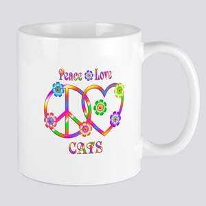 Peace Love Cats 11 oz Ceramic Mug