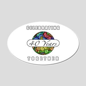 40th Anniversary (Butterflies) 20x12 Oval Wall Dec