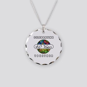 40th Anniversary (Butterflies) Necklace Circle Cha