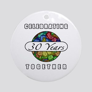 30th Anniversary (Butterflies) Ornament (Round)