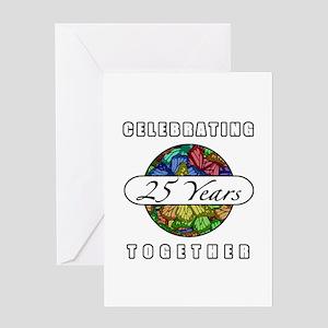 25th Anniversary (Butterflies) Greeting Card