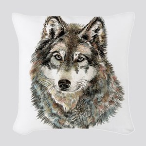 Watercolor Grey, Gray Wolf Animal Painting Woven T