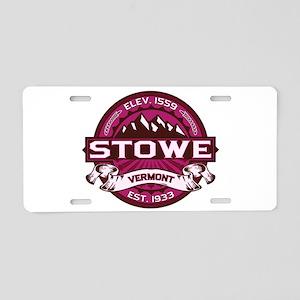 Stowe Raspberry Aluminum License Plate