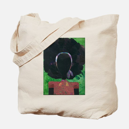 Girl with the Big Afro Tote Bag