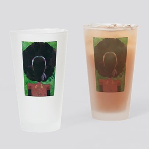 Girl with the Big Afro Drinking Glass