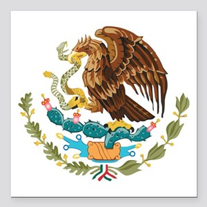 "Mexico COA Square Car Magnet 3"" x 3"""