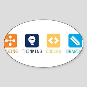 Making-Thinking-Coding-Drawing Sticker