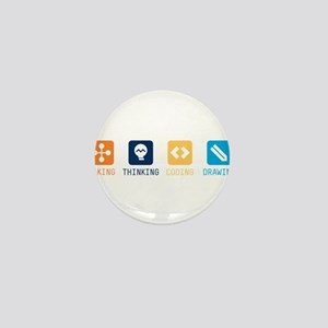 Making-Thinking-Coding-Drawing Mini Button