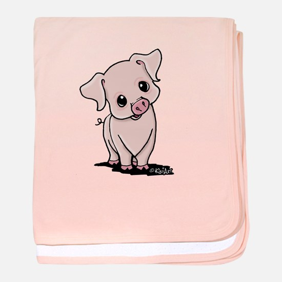 Curious Piggy baby blanket
