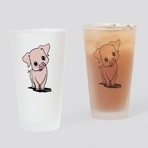 Curious Piggy Drinking Glass