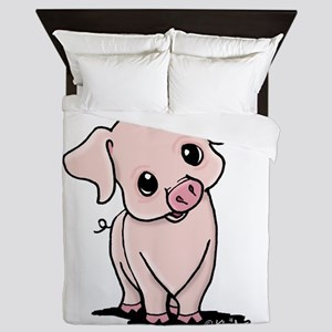 Curious Piggy Queen Duvet