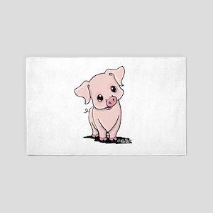 Curious Piggy 3'x5' Area Rug