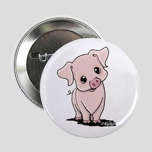 "Curious Piggy 2.25"" Button"