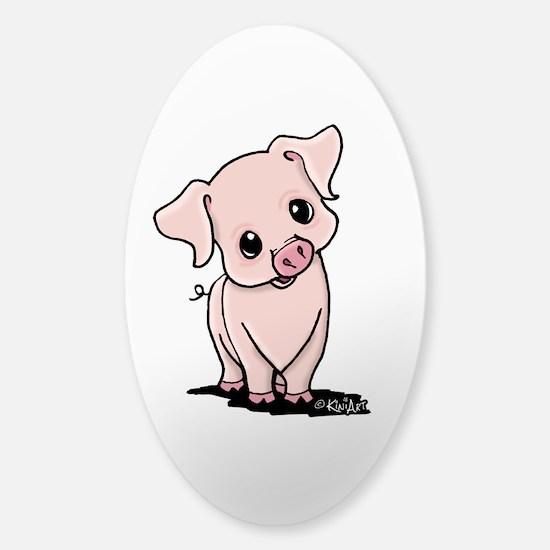 Curious Piggy Sticker (Oval)