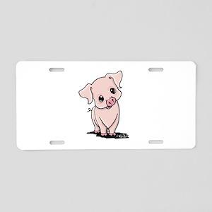 Curious Piggy Aluminum License Plate