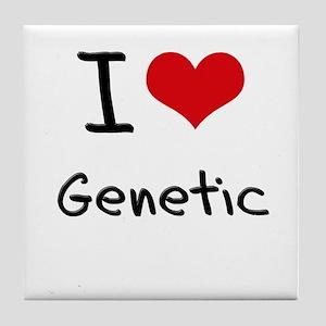 I Love Genetic Tile Coaster