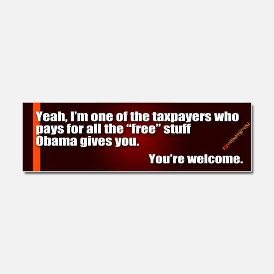 Youre Welcome Car Magnet 10 x 3