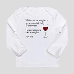 Glass Half Full Long Sleeve Infant T-Shirt