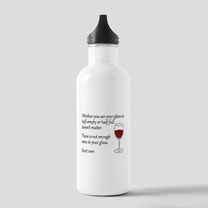 Glass Half Full Stainless Water Bottle 1.0L