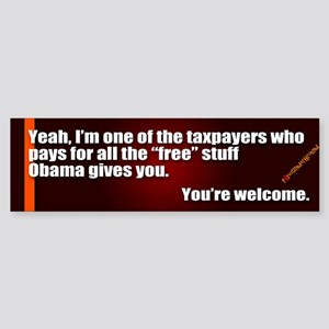 Youre Welcome Bumper Sticker