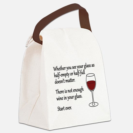 Glass Half Full Canvas Lunch Bag