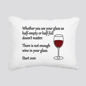 Glass Half Full Rectangular Canvas Pillow