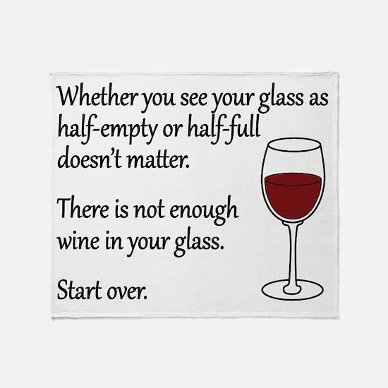 Glass Half Full Throw Blanket