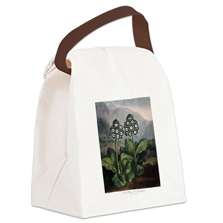 Auricula, The Temple of Flora Canvas Lunch Bag