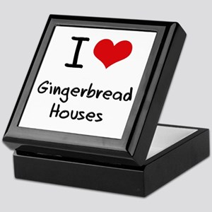 I Love Gingerbread Houses Keepsake Box