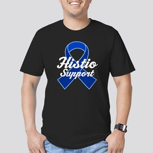 Histio Support Ribbon Men's Fitted T-Shirt (dark)