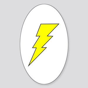 The Lightning Bolt 8 Shop Oval Sticker